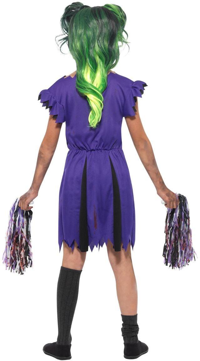 Paarse cheerleader scream team outfit