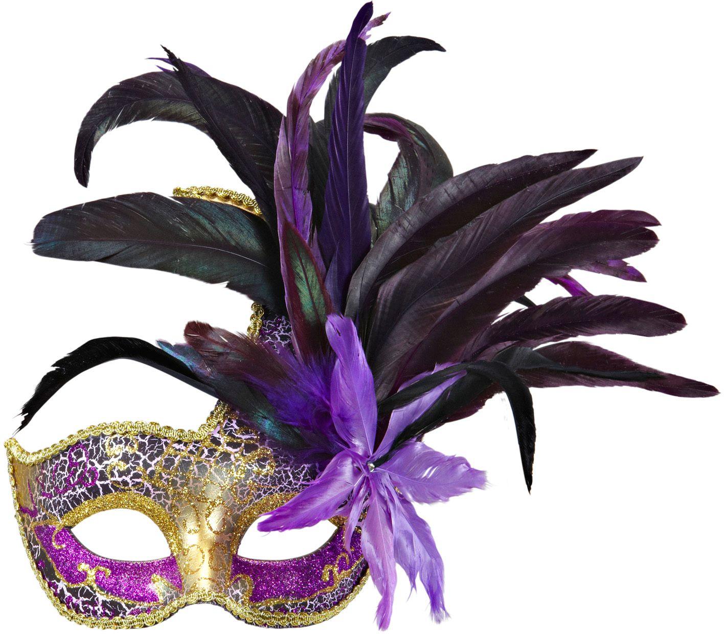 Paarse colombina veren masker