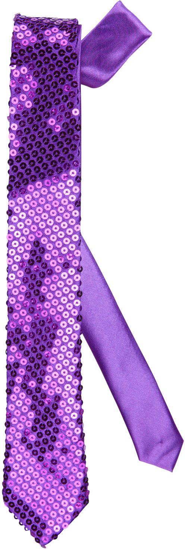 Paarse pailletten stropdas