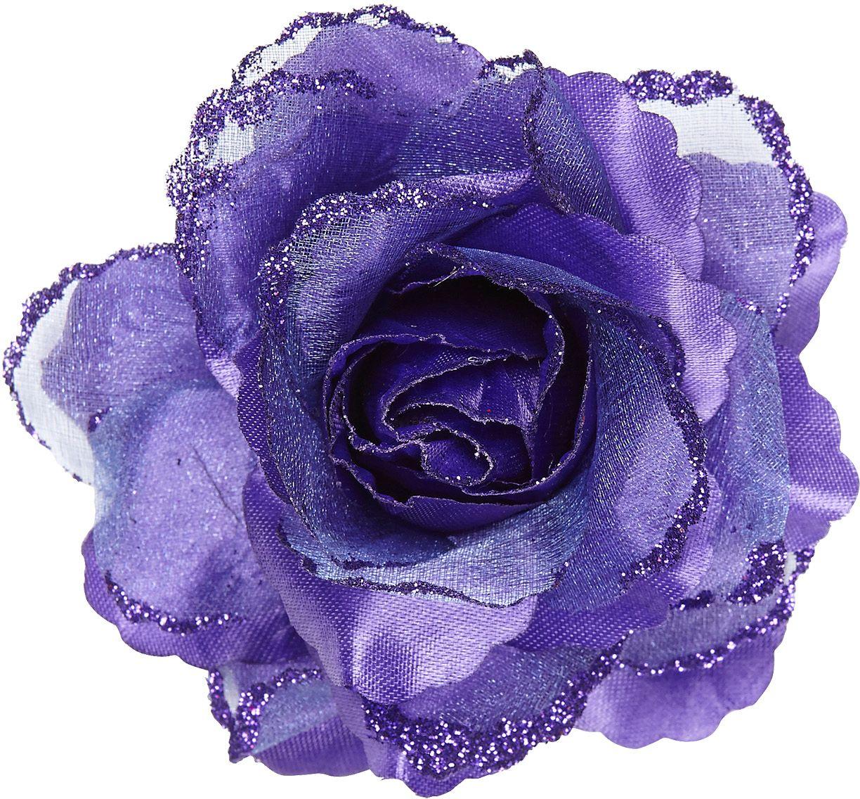 Paarse roos haarclip