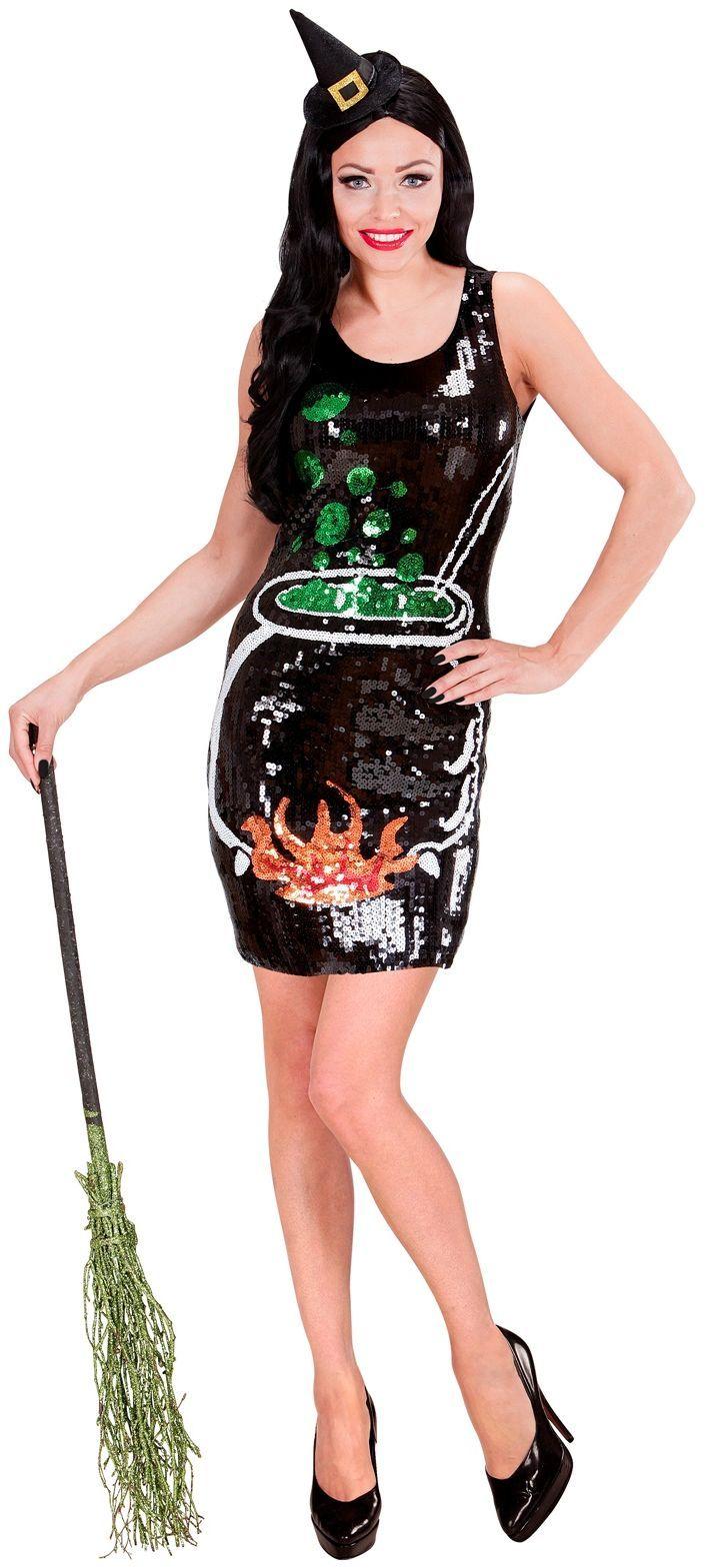 Pailletten heksen jurk