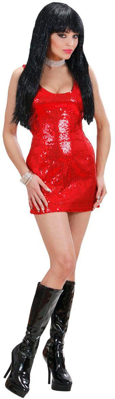 Pailletten jurk rood