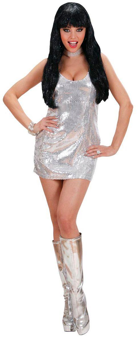 Pailletten jurk zilver