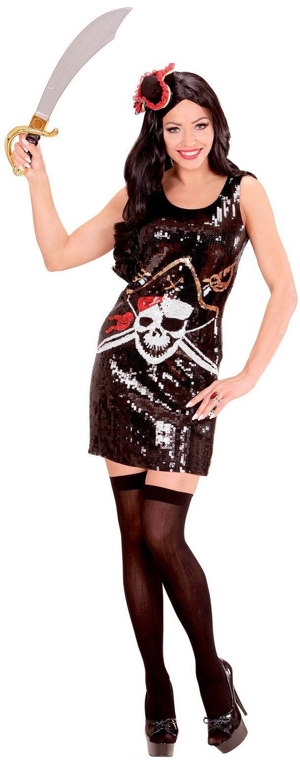 Pailletten piraten jurk