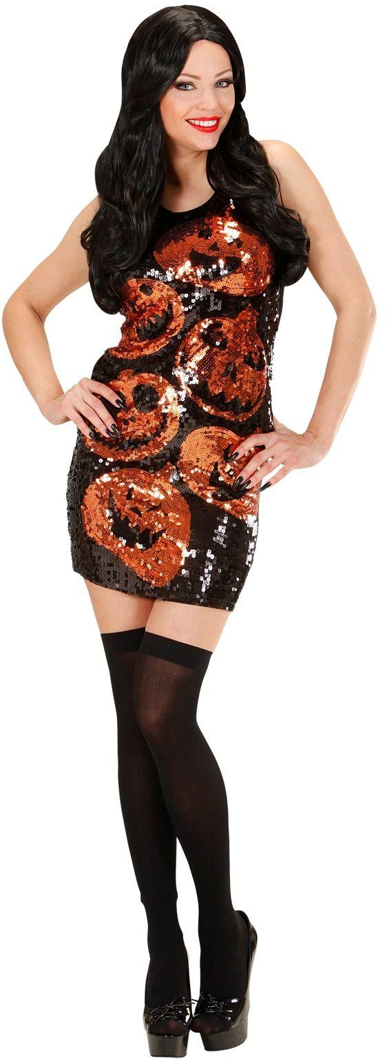 Pailletten pompoen jurk