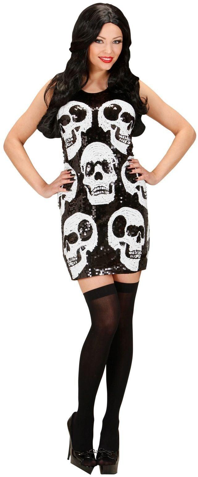 Pailletten schedels jurk