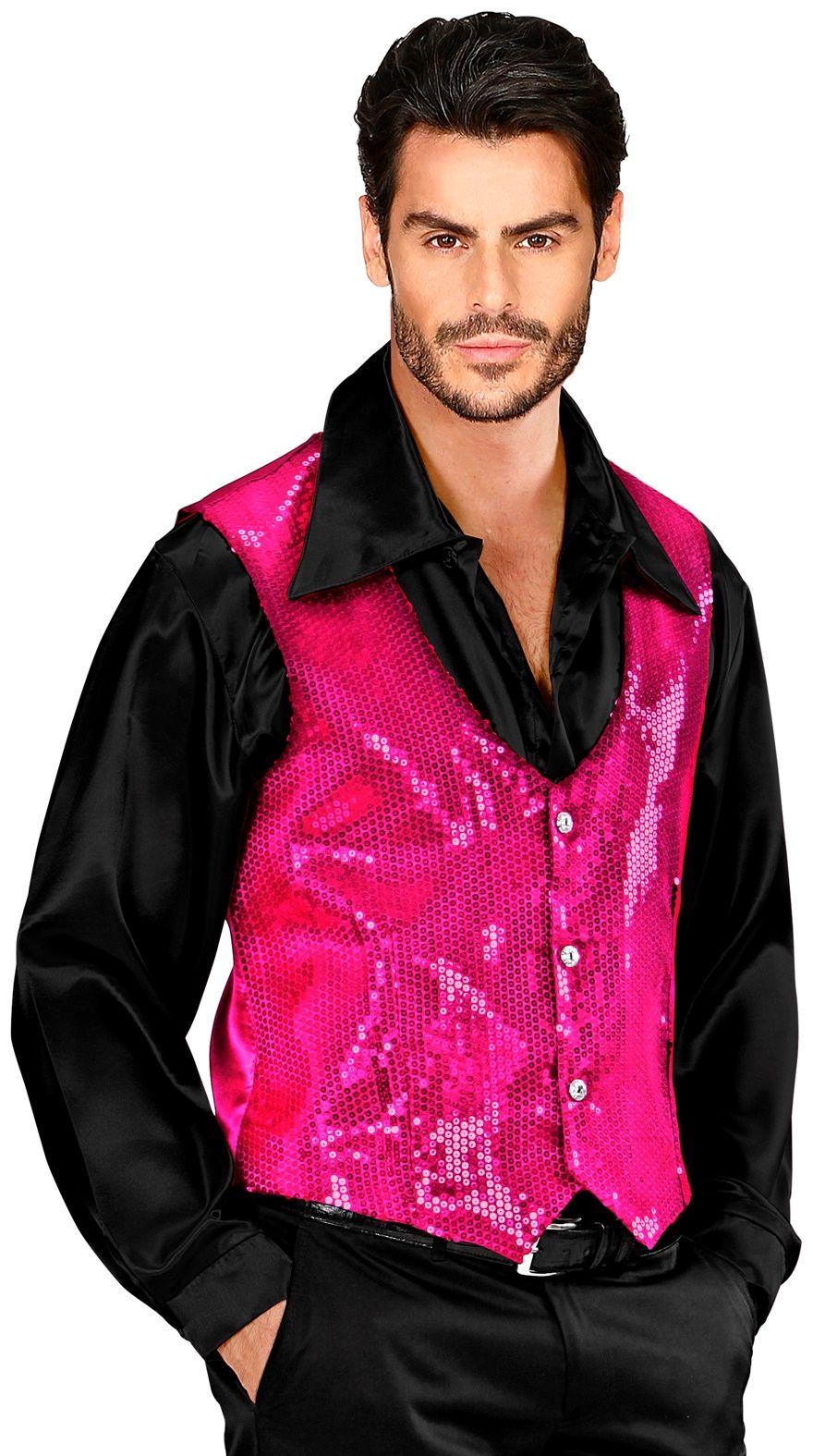 Pailletten vest roze