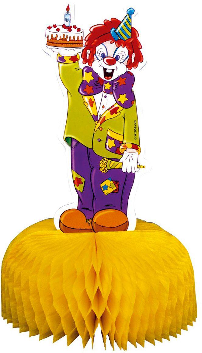 Papieren clown decoratie