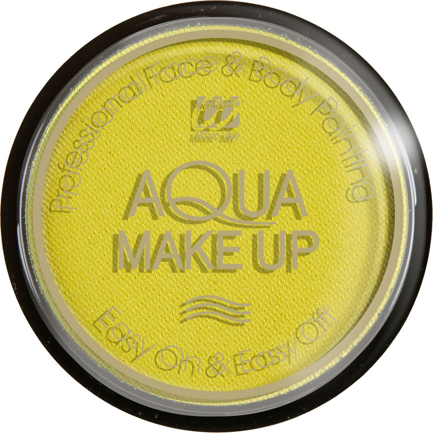 Pastel gele make-up waterbasis