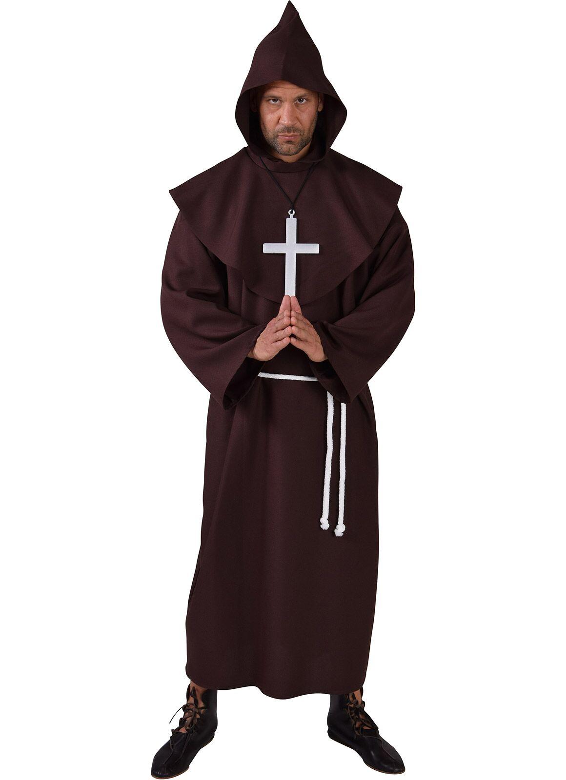 Pater kostuum bruin heren