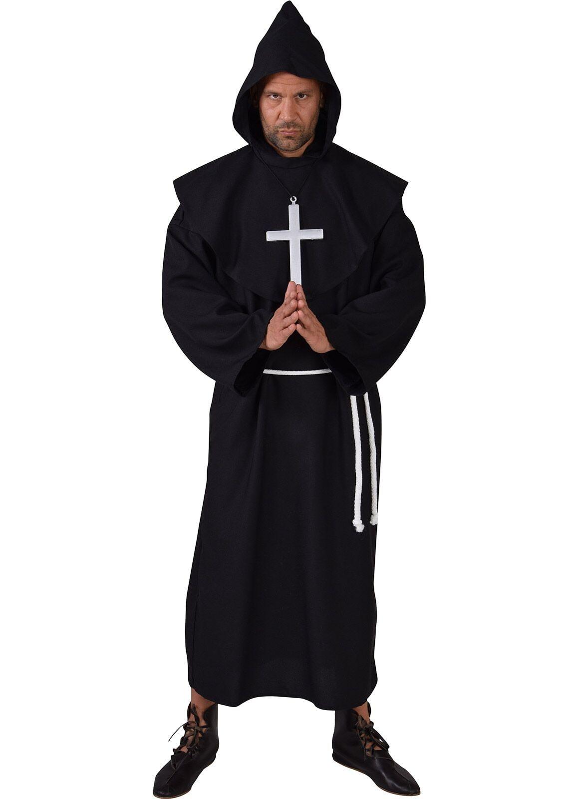 Pater kostuum zwart heren