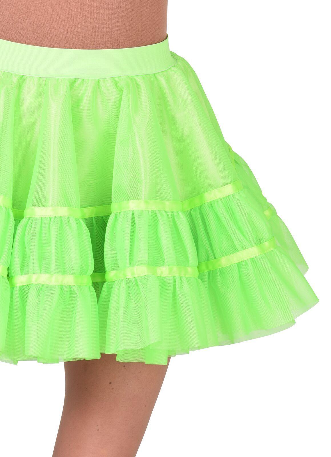 Petticoat fluor groen dames kort