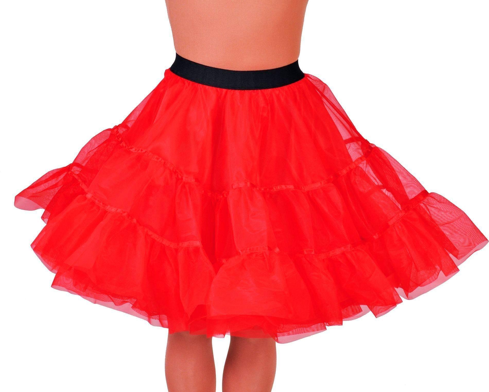 Petticoat middel lang rood dames
