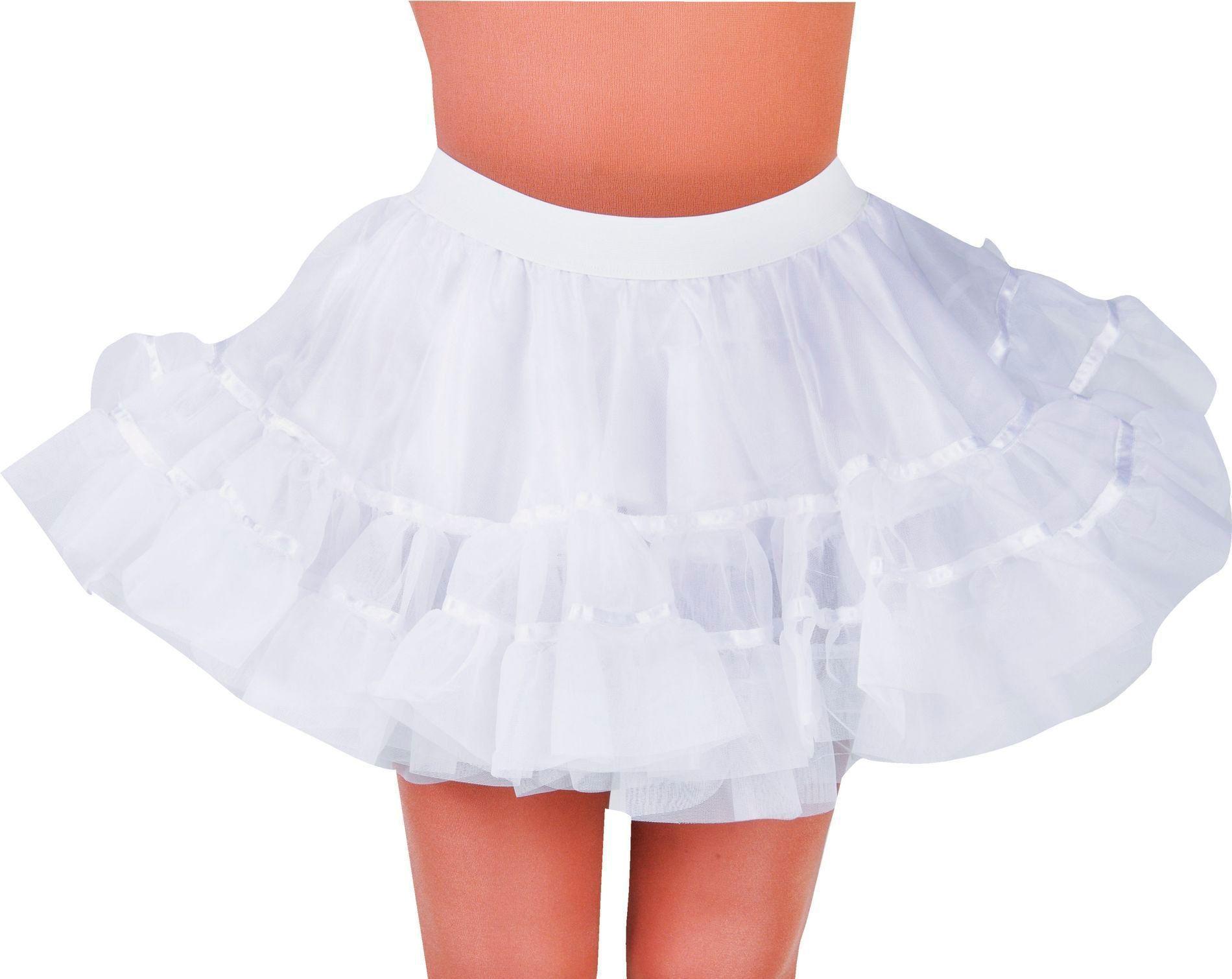 Petticoat wit dames kort