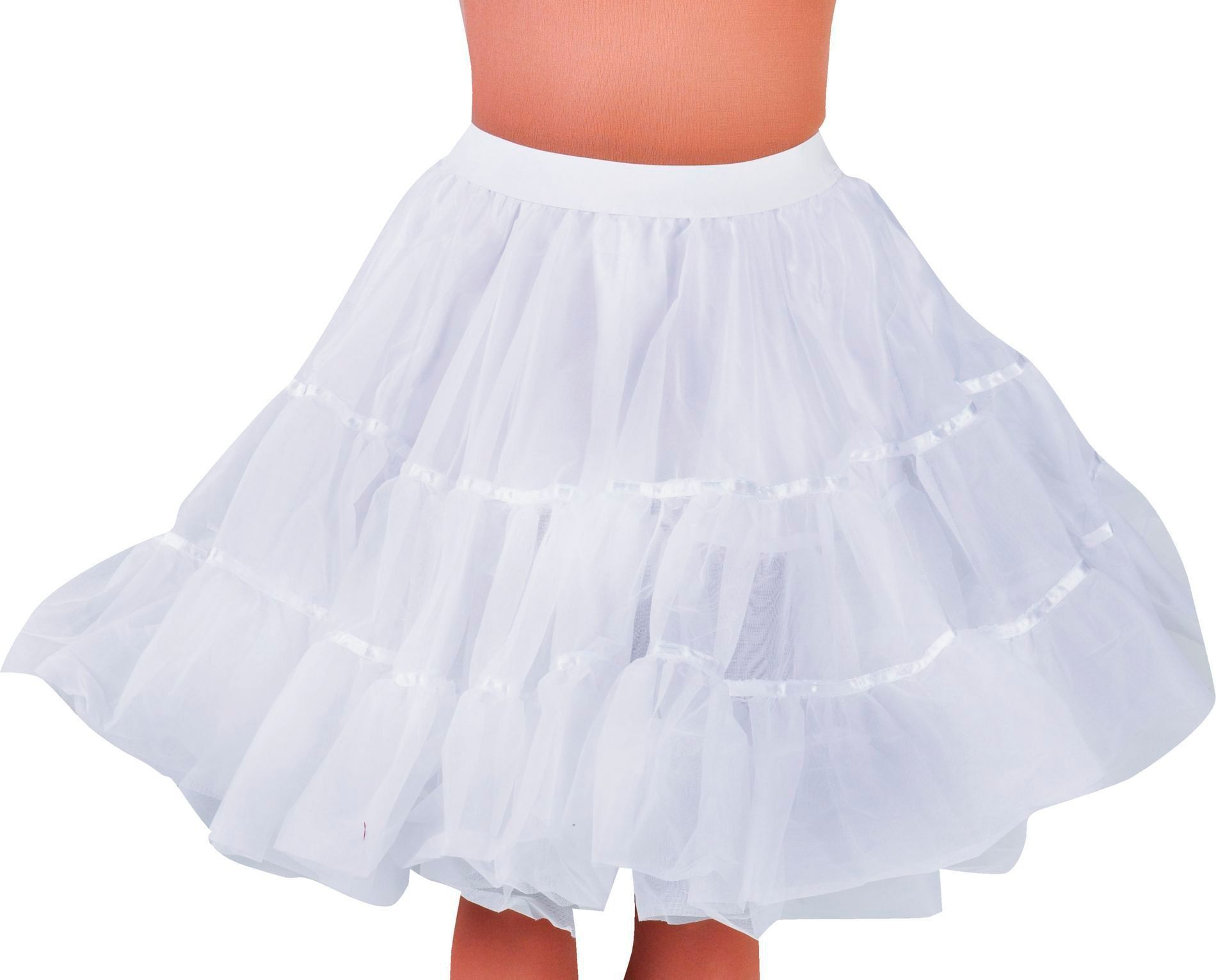 Petticoat wit dames middel lang