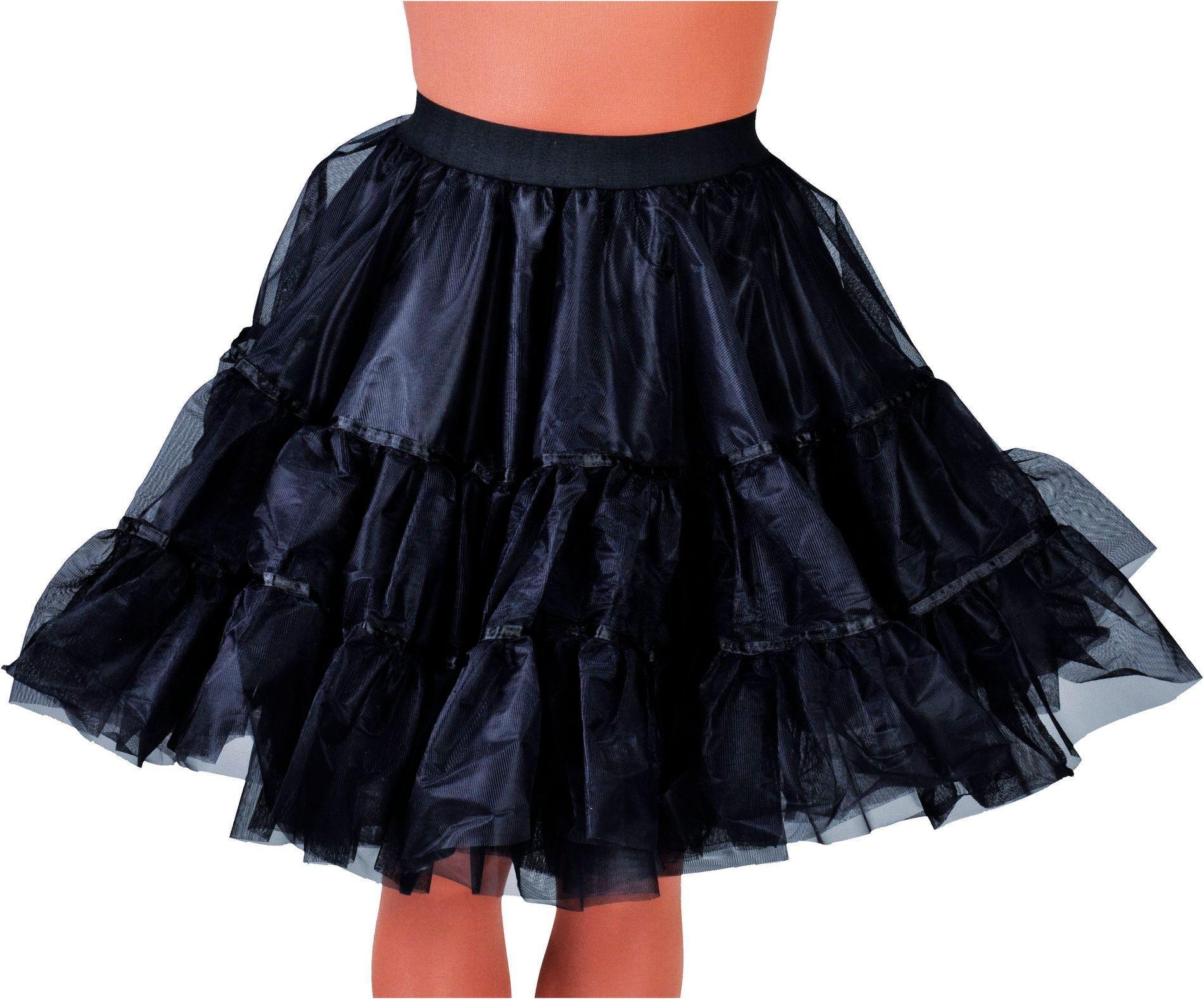 Petticoat zwart dames middel lang