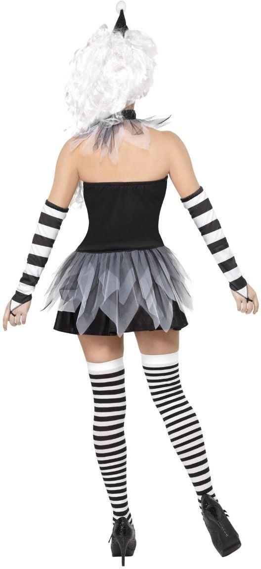 Pierrot horror kostuum dames
