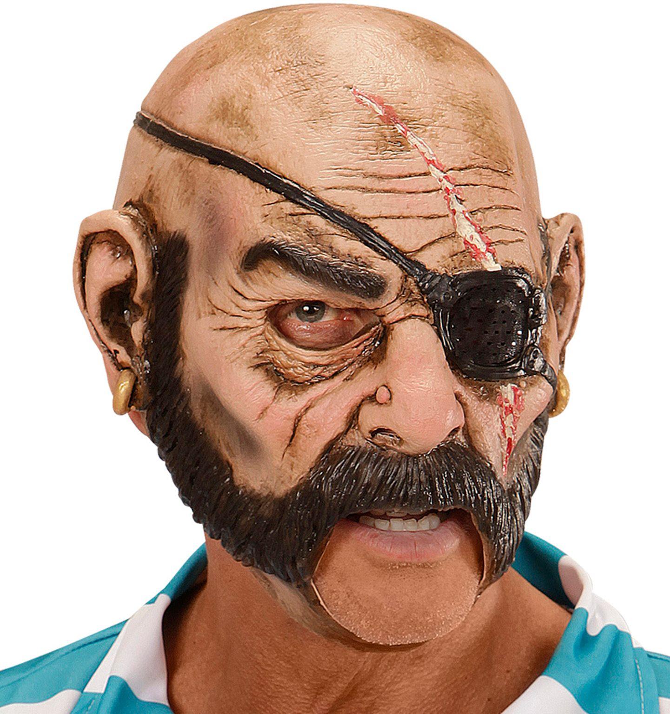 Piraat masker met open mond
