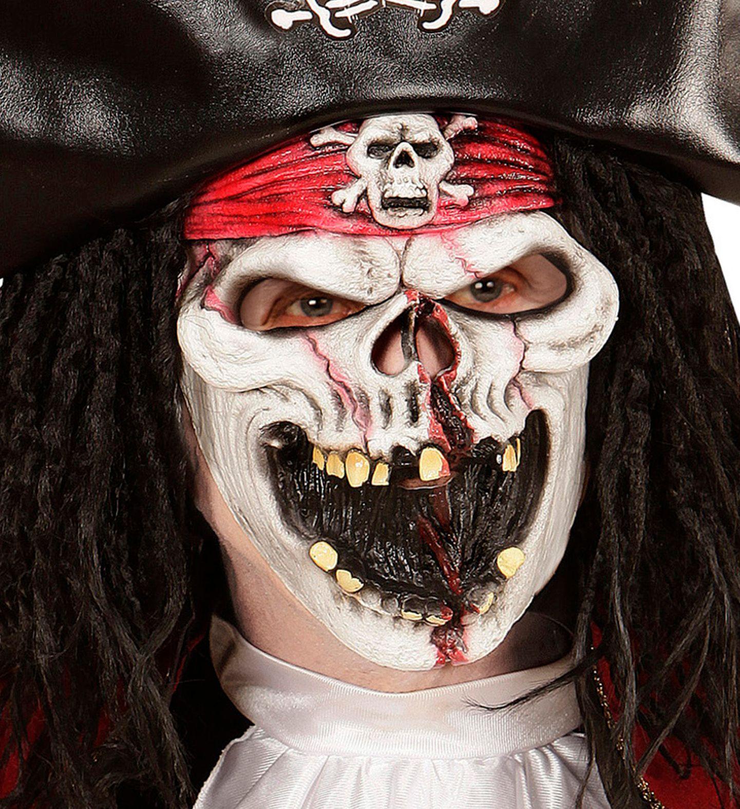 Piraat skelet masker kind