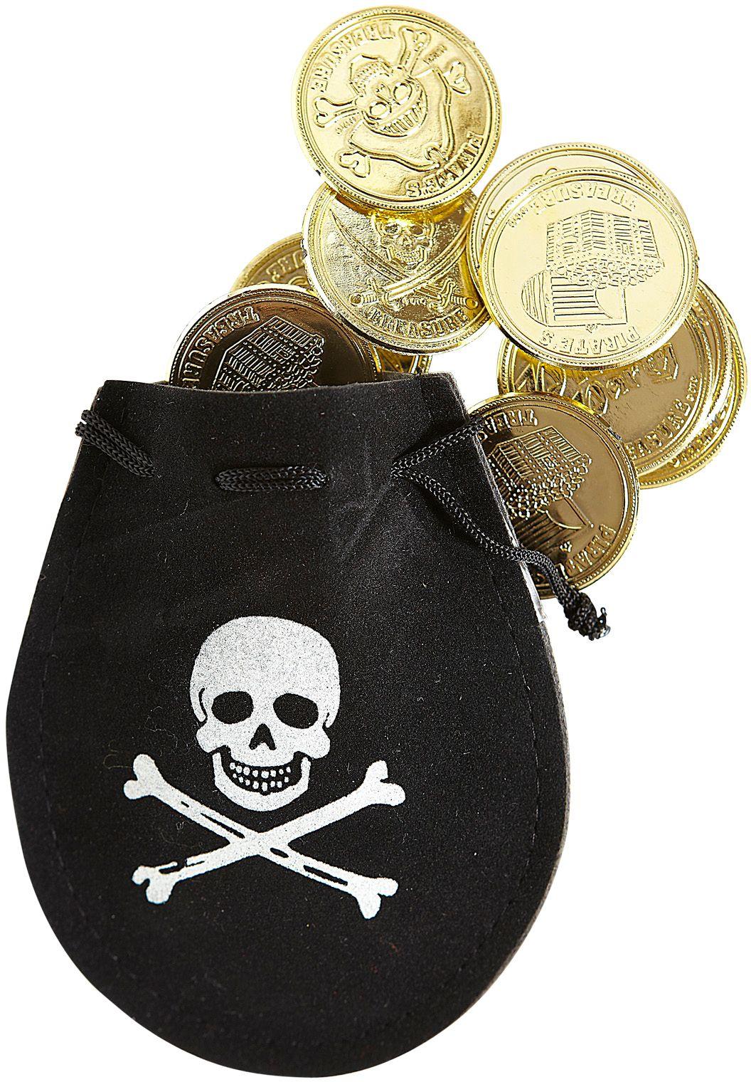 Piraten buidel met munten