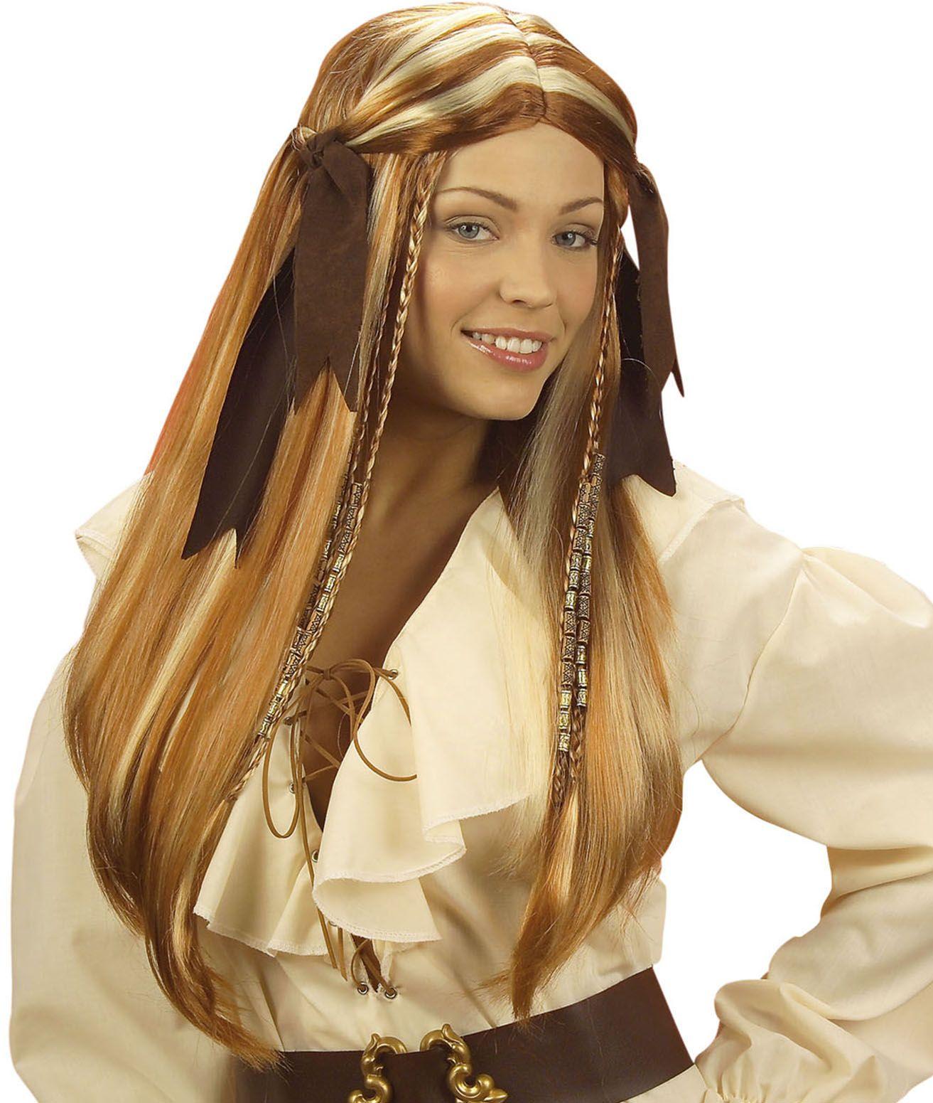 Piraten dame pruik
