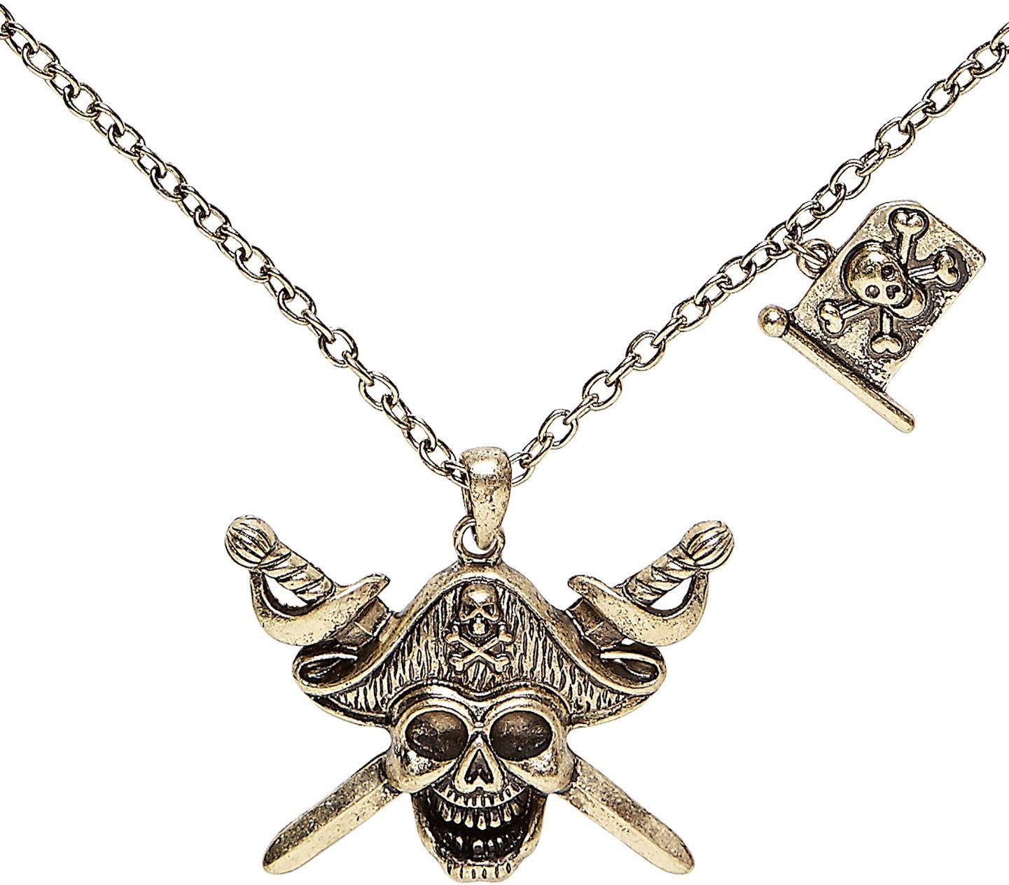 Piraten doodshoofd ketting