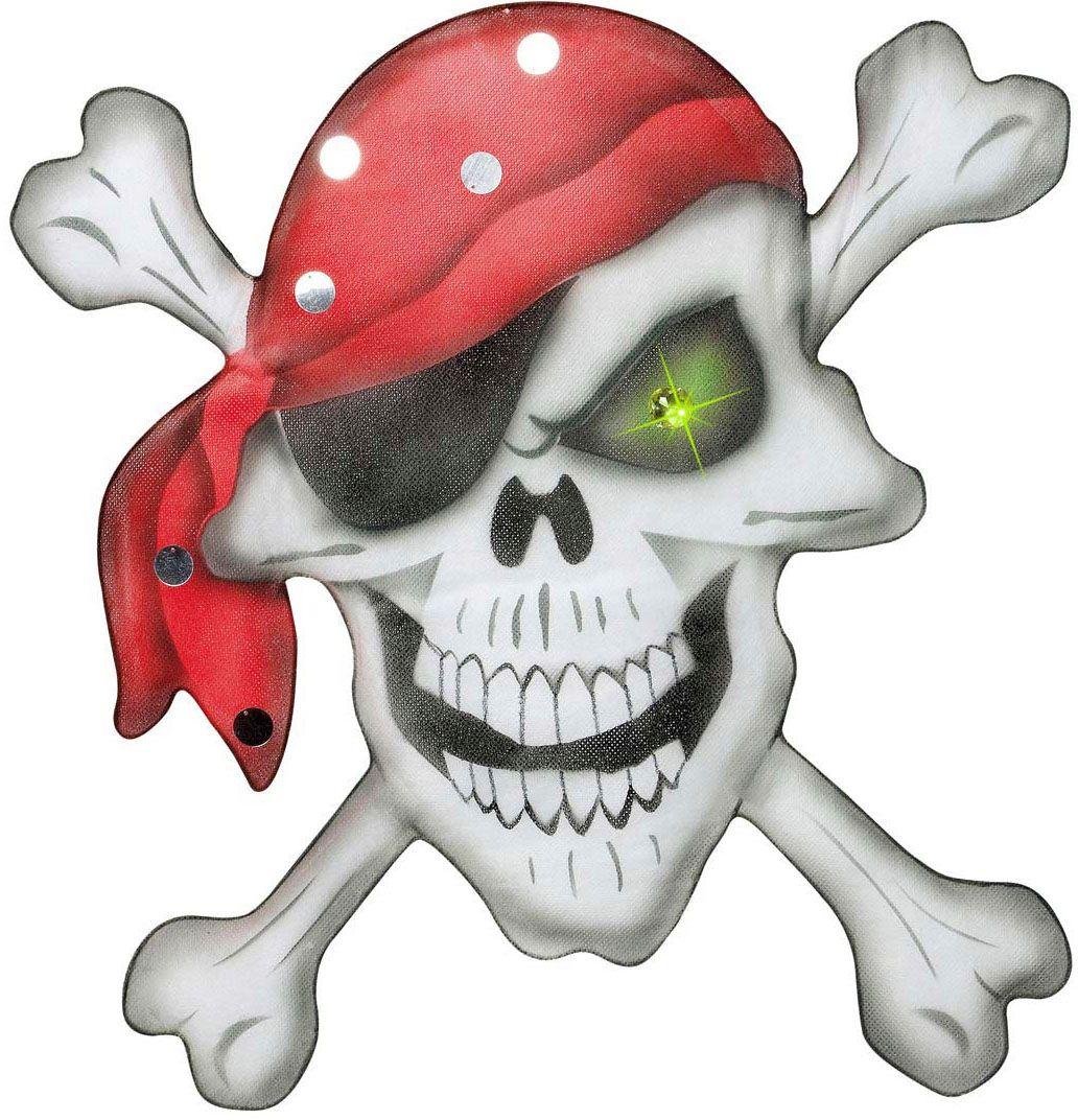 Piraten doodskop met bandana