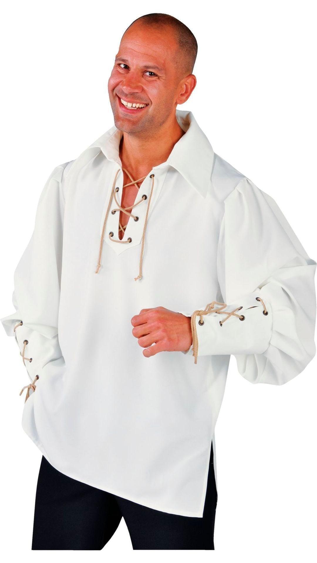 Piraten hemd luxe wit heren