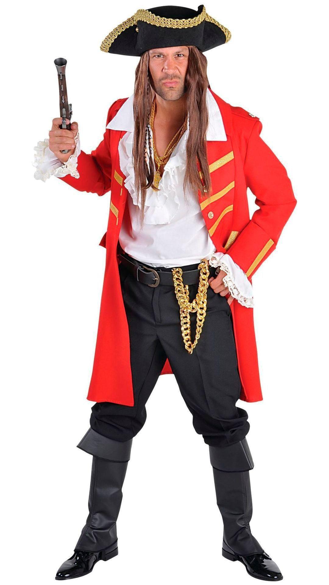 Piraten jas rood heren