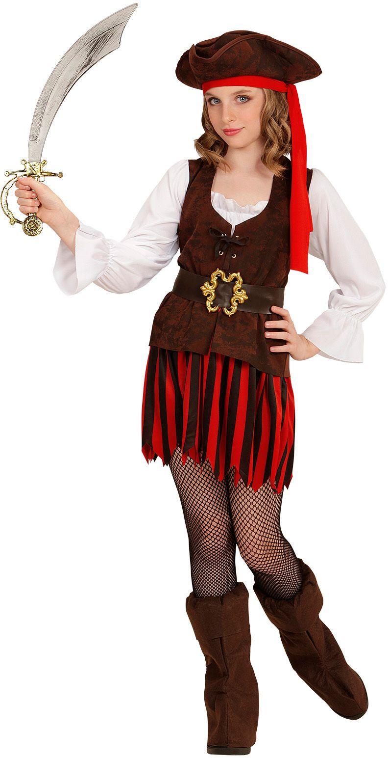 Piraten kleding meisje