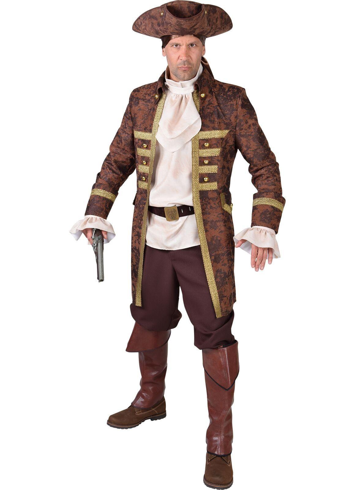 Piraten mantel bruin heren