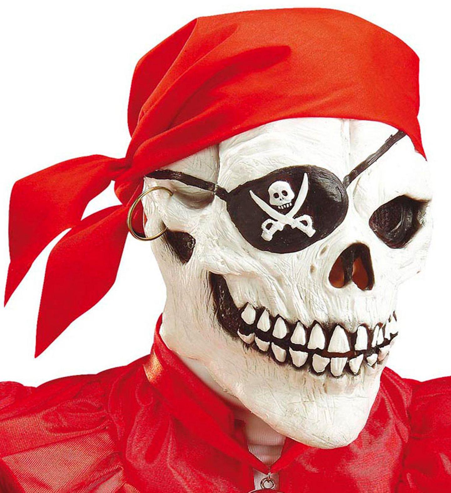 Piraten schedel masker met bandana