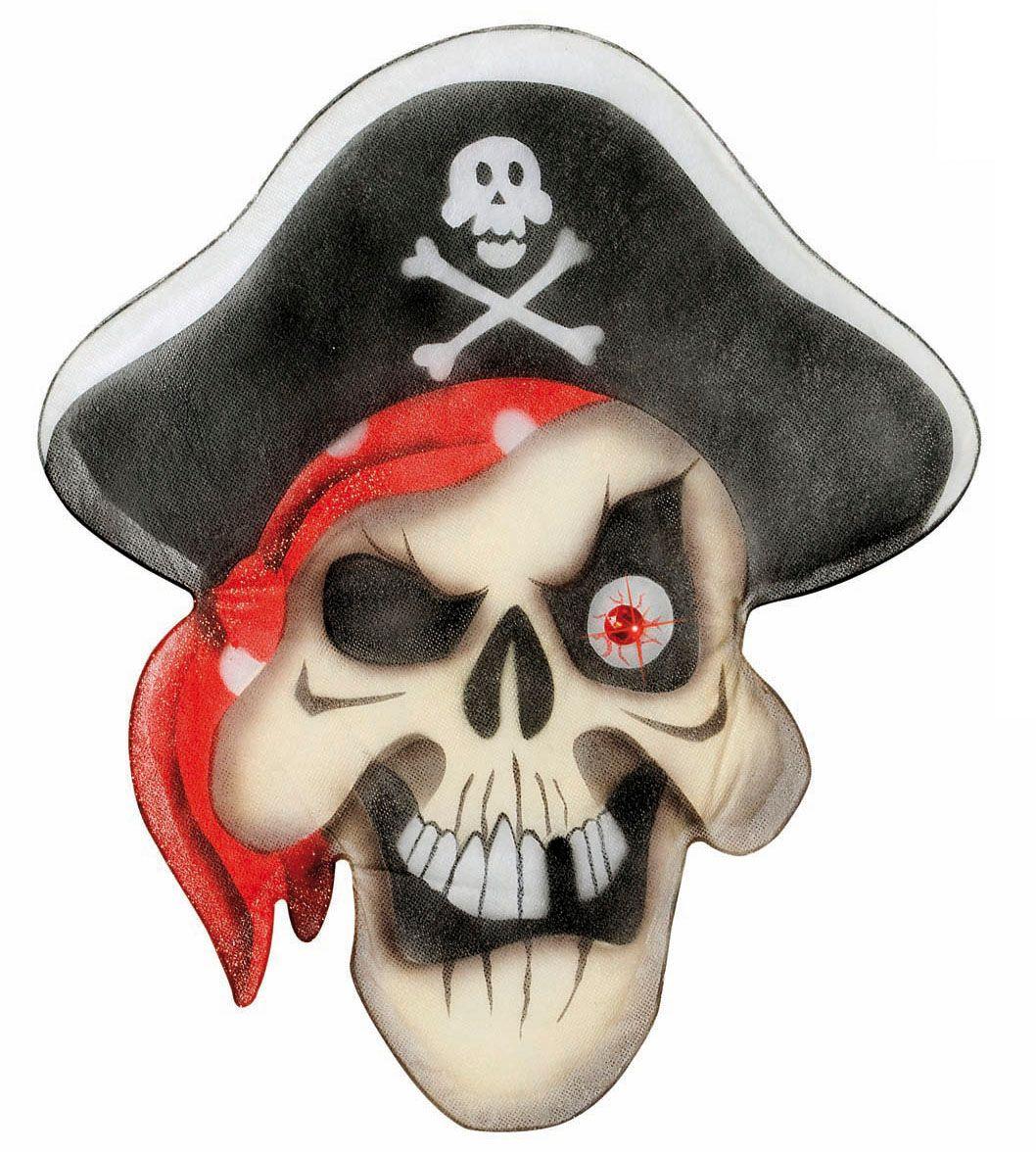 Piraten schedel met edelstenen ogen