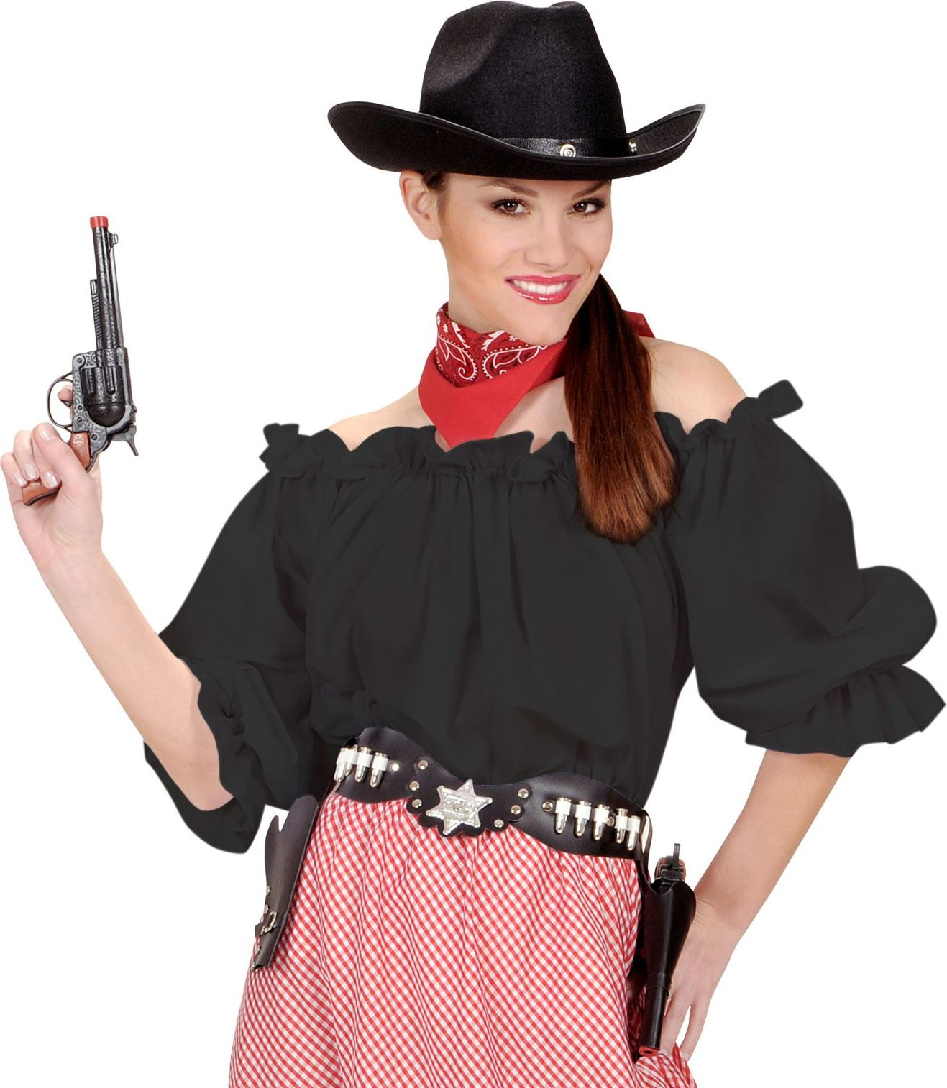 Piraten zwarte blouse