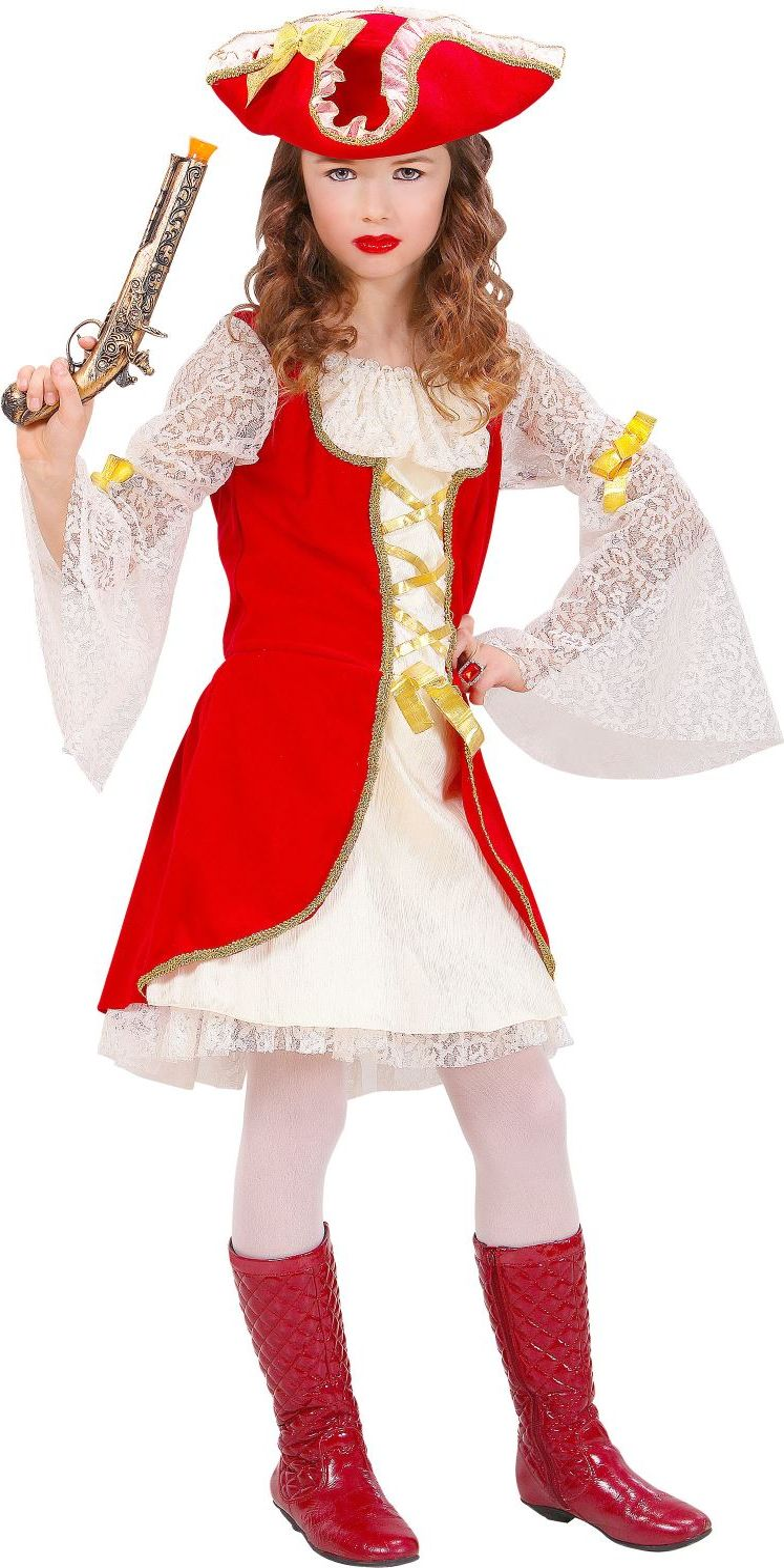 Piratenkapitein meisje kostuum