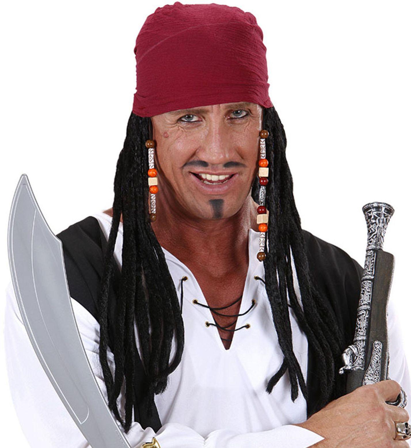 Piratenpruik met bandana