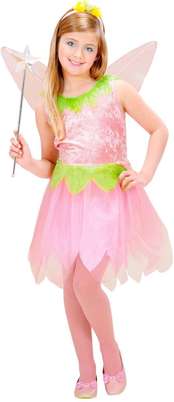 Pixie Roze Bloem Elf Kinderen Kostuum
