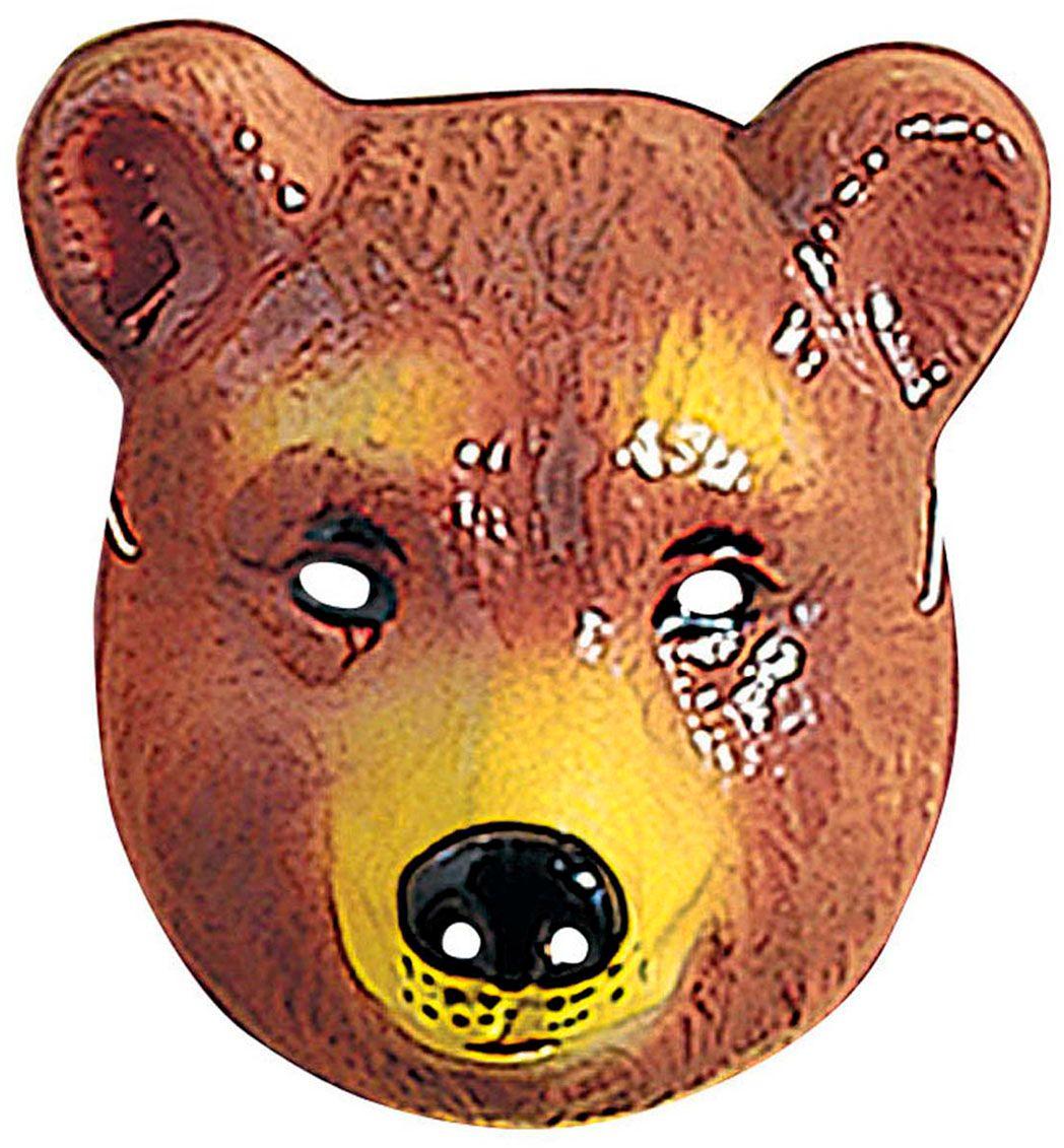 Plastic beren masker kind