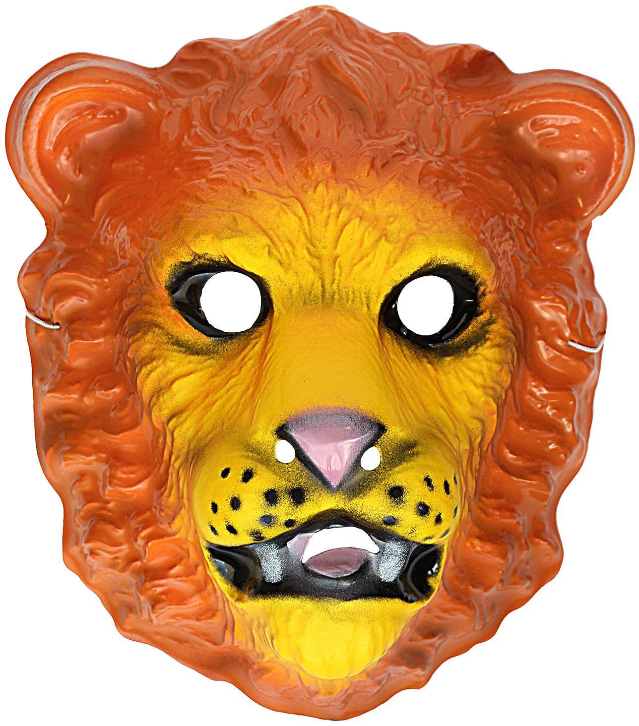 Plastic leeuwen Kindermasker