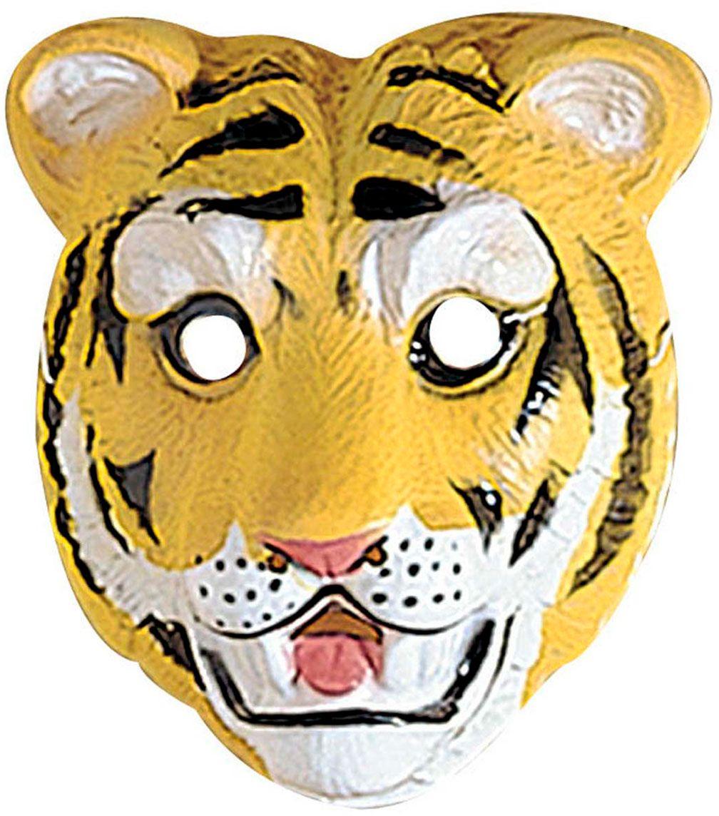 Plastic tijger kindermasker