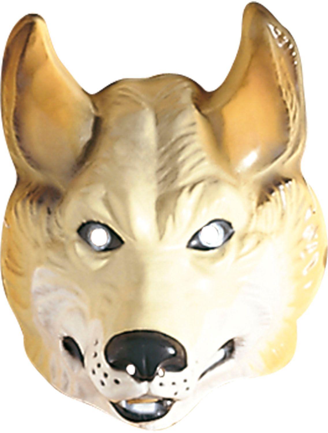 Plastic wolf masker