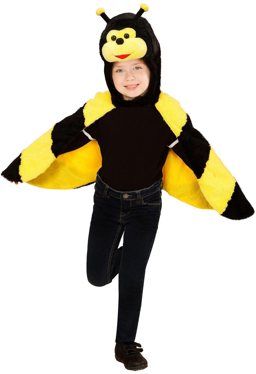 Pluche bijen cape kind