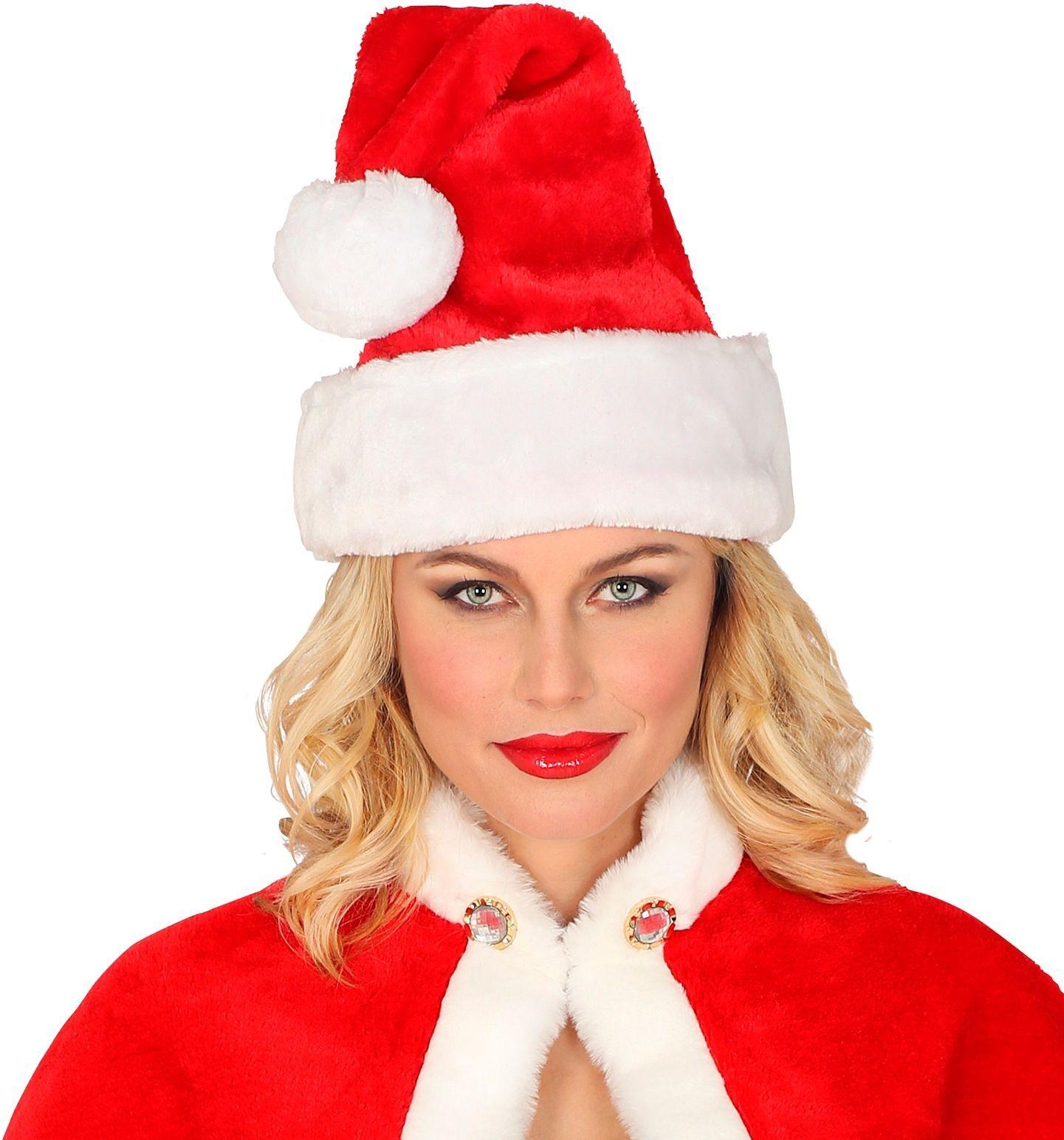 Pluche kerstman muts
