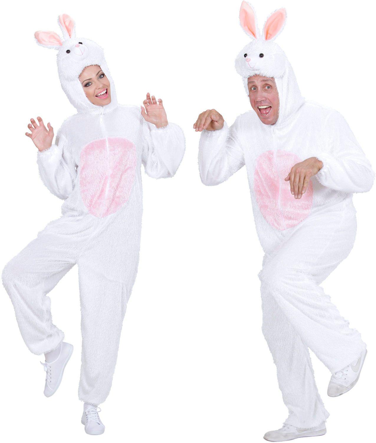 Pluche konijn kostuum