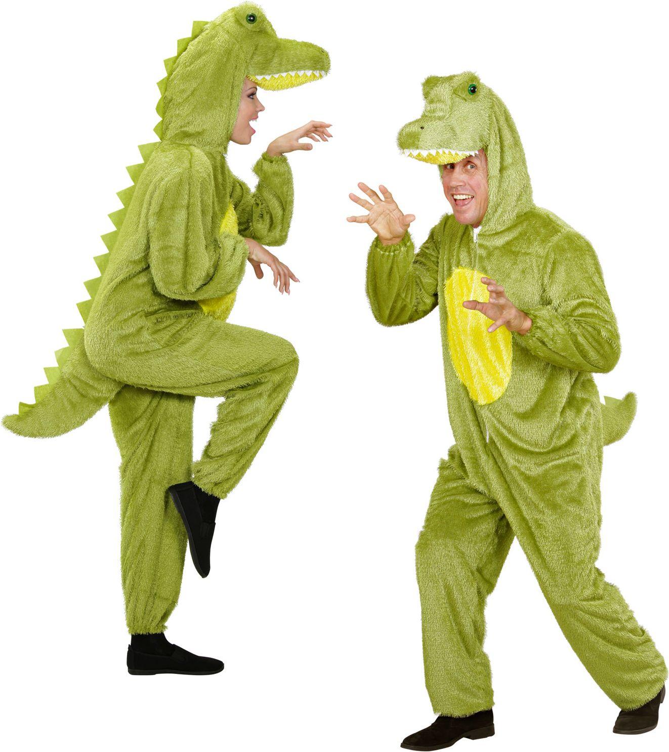 Pluche krokodil kostuum