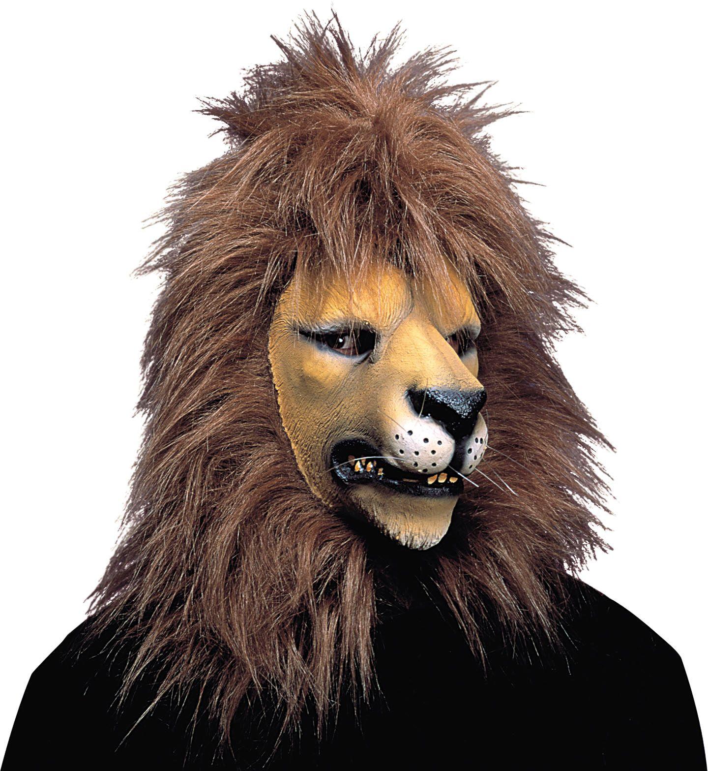 Pluche leeuwen masker