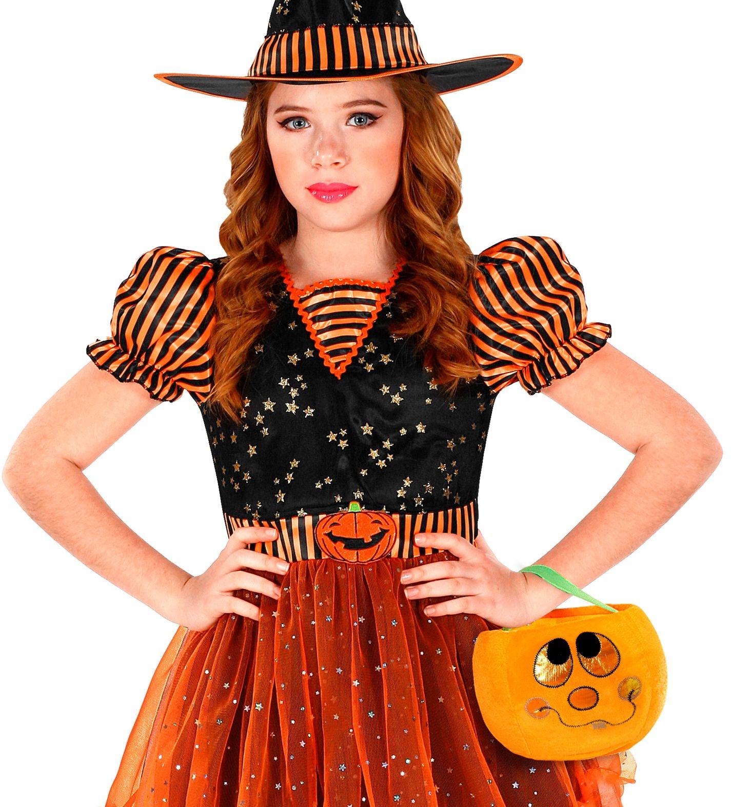 Pluche oranje pompoen tas