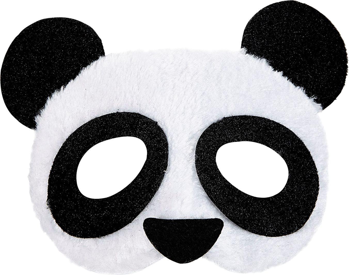 Pluche panda oogmasker