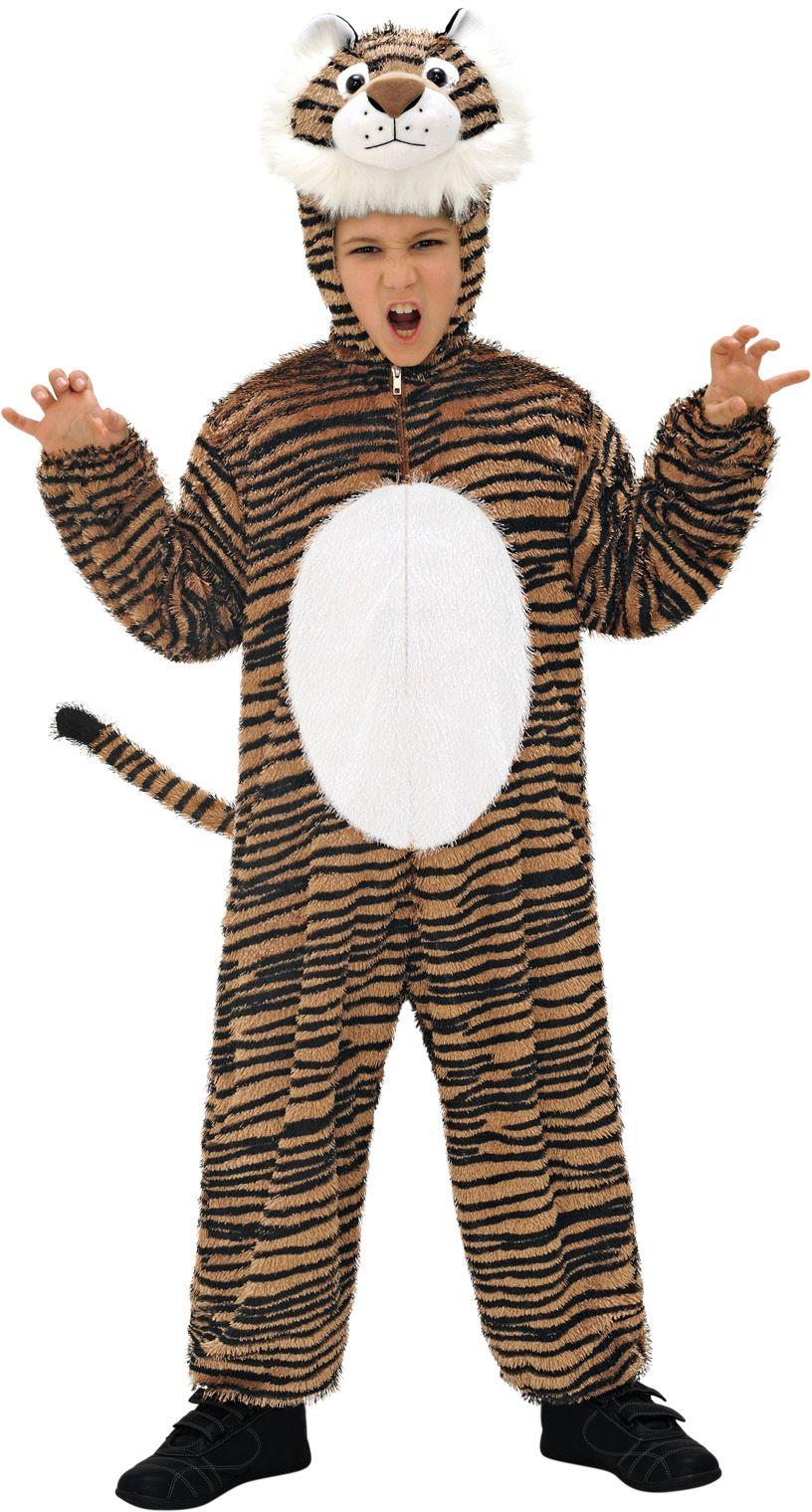 Pluche tijger jumpsuit