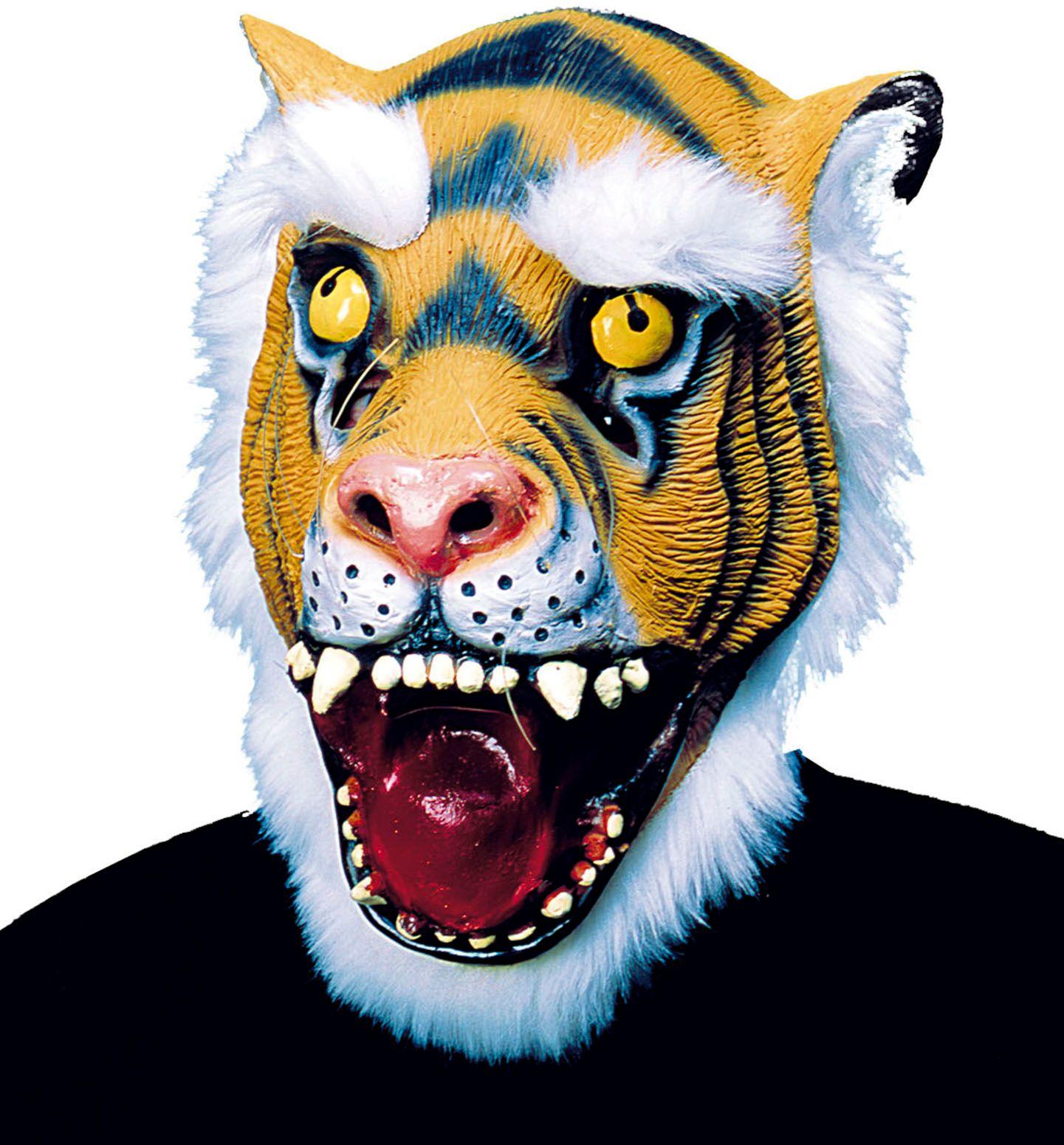 Pluche tijger masker